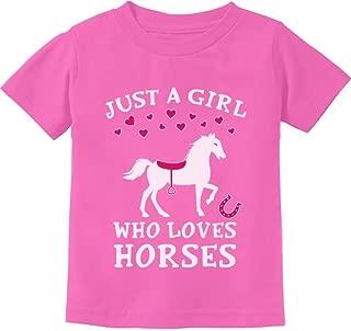 Tstars - Just A Girl Who Love Horses Horse Lover Gift Toddler Kids T-Shirt