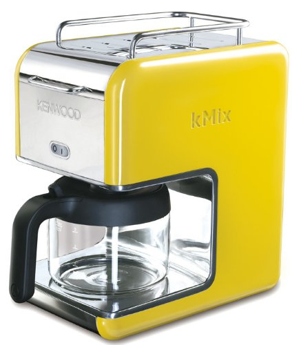 Kenwood CM 028 kMix Boutique - Cafetera de goteo (6 tazas), color amarillo