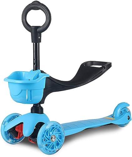 almacén al por mayor WYFDM Scooter para Niños, Niños y niñas pequeños o o o Niños-Ajustable Altura w Extra-Wide Deck PU Intermitente Ruedas para Niños de 2 a 10 años de Edad,azul  hermoso