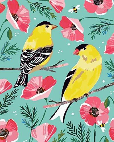 Malen Nach Zahlen Erwachsene Gelber Kanarienvogel -Vorgedruckt Leinwand-Ölgemälde Geschenk Für Erwachsene Kinder Kits Home Haus Dekor - 40 x 50cm(Ohne Rahmen)