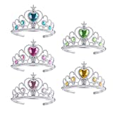 TOYMYTOY 5pcs Princess Tiara Crown Party Crown Set Girls Dress up accesorios del partido
