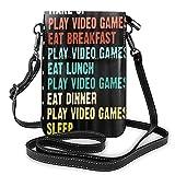 ADONINELP Bolso Bandolera de Cuero para teléfono My Day Small Crossbody Bag Cell Phone Purse Wallet Handbags Shoulder Bag Sport Multifunctional Phone Pouch Bag for Women Girls Adult