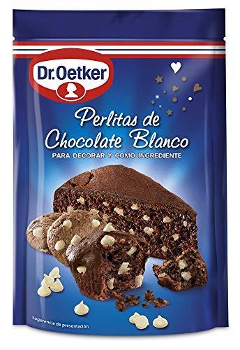 Dr. Oetker - Perle di cioccolato bianco ideali da mangiare in qualsiasi momento della giornata e per preparare i migliori dessert 100 gr.