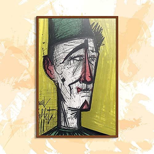KWGQM Famoso Expresionista Pintor Arte Pintura 《LitografíA Le Clown Jojo》 PóSter Figurativo Pintura LíNea PóSter Abstracto Pared Arte Grabados para Interior DecoracióN