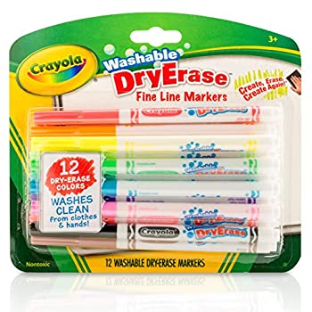 Crayola 12 Ct Washable Dry Erase Markers