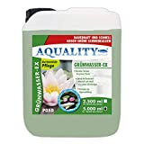 AQUALITY Gartenteich Grünwasser-EX (GRATIS Lieferung in DE - Besonders wirksam bei grünem Wasser, dauerhaft und schnell, grüne Schwebealgen, verhindert die Algenneubildung), Inhalt:5 Liter