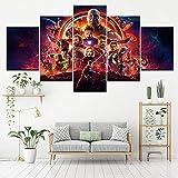 ZDDBD Película Caliente Marvel Avengers Infinity War Cartel Lienzo Impreso Pintura decoración del hogar Cuadro de Arte de Pared para Sala de Estar