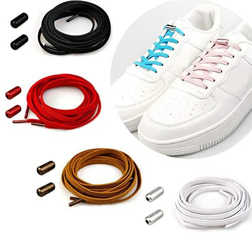 Cordones Elásticos sin Nudo para Zapatillas, Cordones sin Atar para Niños y Adultos, Cordones de Silicona, No Hay Necesidad de Atar, Cordones Zapatos Elasticos para Calzado Deportivo Zapatos Casuales