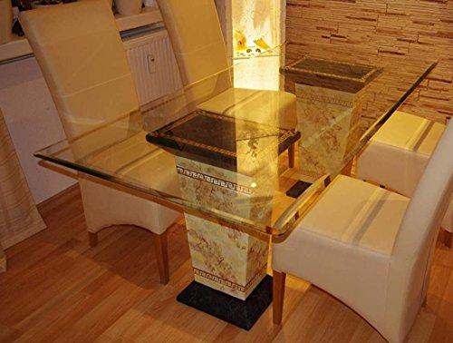 Antikes Wohndesign Esstisch Tafeltisch Küchentisch Marmortisch Steintisch Mäandermuster