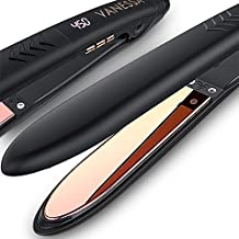 VANESSA Flat Iron Hair Straightener and Curler, Titanium Hair Straightener Flat Iron, Titanium Flat Iron Dual Voltage, Birthday Gifts for Women/Mom/Wife/Her