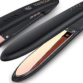 - 51 AaIYAV6L - VANESSA professional flat iron hair straightener, Titanium Flat Iron and Curler in One yourhair - 51 AaIYAV6L - Home