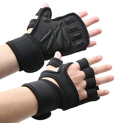 Fitness Handschuhe Trainingshandschuhe mit Silica Gel Grip und einstellbare Handgelenkstütze für mehr Leistung bei Gewichtheben Bodybuilding Crossfit Kraftsport Gym Handschuhe zum Gewichtheben XL
