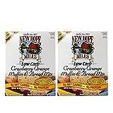 New Hope Mills Low Carb Orange Cranberry Muffin & Bread Mix 2 Pack (8oz Each) - Sugar Free Orange Cranberry Muffin Mix - Breakfast Alternative - 16 oz Fruit Muffin Mix
