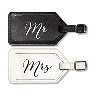 C.R. Gibson True Love 2-Piece Luggage Tag Set, Mr. and Mrs