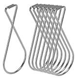 Ceiling Hook Clips- 100 Pack Drop Ceiling Hanger Hooks Hanging on Suspended Ceiling Tile, Grid orDrop- T-bar Clips Drop Clips for Office Home Stores Classroom and Wedding Decorations