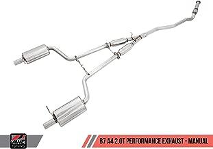 AWE Tuning 3045-43010 B7 A4 2.0T Quattro Quad Tip Performance Exhaust (For Tiptronic Cars, Diamond Black Tips)