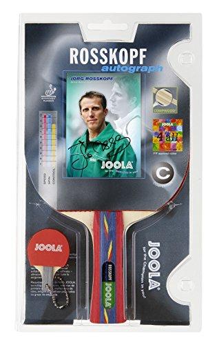 Joola Tischtennisschläger ROSSKOPF AUTOGRAPH Tischtennis-Schläger ITTF Zulassung für Profi Wettkampf Spieler-5fach verleimtes Spezialholzfurnier, Mehrfarbig, 1,8 MM Schwamm