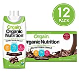 Orgain Organic Nutritional Shake, Creamy Chocolate Fudge - Meal Replacement, 16g Protein, 21...