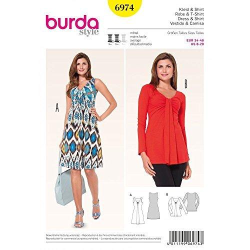 Burda Naaipatroon 6974 Burda Style Tops, Shirts, Blouses van Burda