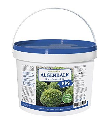 myGardenlust Algenkalk Buchsbaumretter 6 kg – Zulässig für den Bio-Anbau – Buchsbaum Kur - Feines Algen Kalk Pulver – Gartenkalk als Buchsbaumdünger