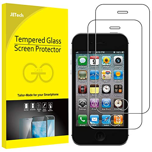 JETech Schutzfolie für iPhone 4s und iPhone 4, Gehärtetes Glas Displayschutzfolie, 2 Stück