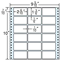 東洋印刷 タックフォームラベル 9 5/10インチ ×10インチ 18面付(1ケース500折) M9H