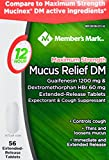 Member's Mark Mucus Relief Maximum Strength Guaifenesin 1200mg Dextromethorphan HBr 60mg, 56 Tablets