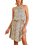 YOINS Femme Robe d'été Sexy Maxi Halter Neck sans Manches Mini Robe de Plage Soleil Vacances Casual Crochet Bikini Cover up Maillots de Bain Maillot de Bain Coeur-1 S