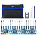 GogoFix Precision 20 Pieces Screwdriver with Tool Kits Compatible with Electronics, Computer, Laptop, Phone, Pad, Gaming Console, Camera... Repair and Maintenance