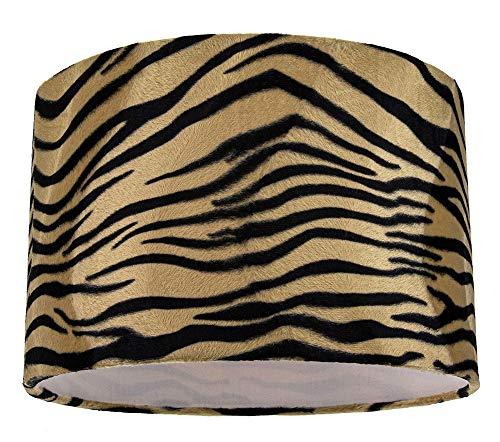 Lámpara de mesa/lámpara colgante con estampado de tigre única y distintiva en terciopelo...