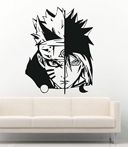 Anime Wall Decal For Boys Girls Naruto Cartoon Ninja Warrior Manga Hentai Vinyl Stickers Mural MK2012