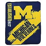 Northwest NCAA Collegiate School Logo Fleece Blanket (Michigan Wolverines)
