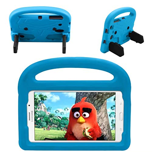 QYiD Funda Infantil para Galaxy Tab E 8.0 T377 Case, Funda Protectora a Prueba de Golpes con Mango Ligero, Carcasa para niño para Galaxy Tab E 8.0 4G LTE Tablet SM-T377, Azul