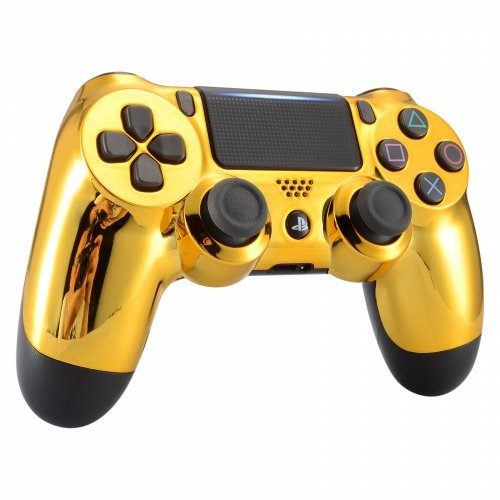 Chrome Gold Wireless Custom Controller for Playstation 4 PS4