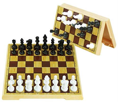 YAOHONG Schach-magnetischer Satz gelber Kaffee-Farbschacht-Falten-Schachbrett-hohe magnetische Kraft (Color : B)