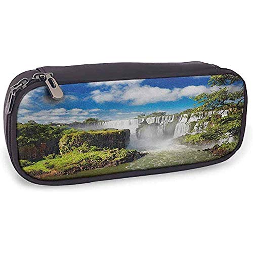 Bolsa de lápices Paisaje Papelería protectora Cascada majestuosa Río Cataratas argentinas Maravillas naturales Paisaje Naturaleza Imágenes