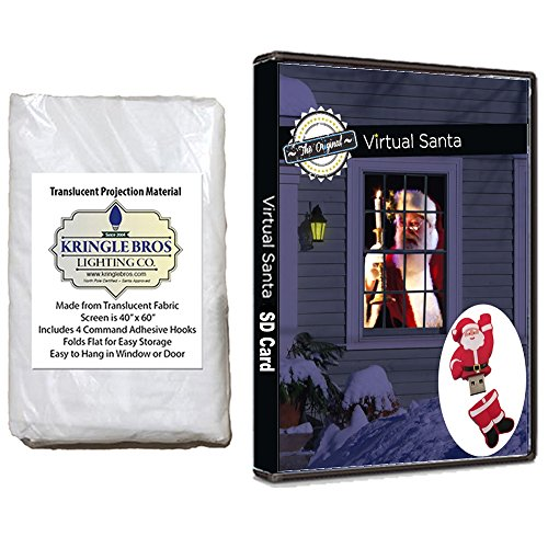 The Original Virtual Santa in The Window Movie on USB. Includes Kringle Bros High Resolution Rear Projection Screen