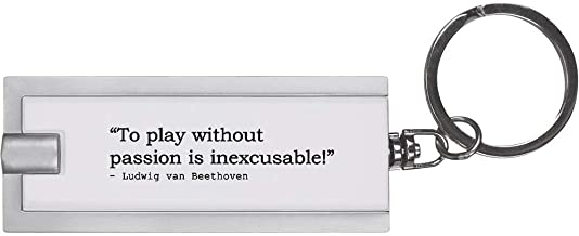 Quote by Ludwig Van Beethoven Keyring LED Torch (KT00005347)