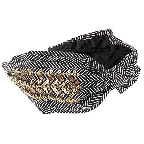 verfraaide hoofdband vintage haarband geknoopte tulband wrap boho mode haaraccessoires voor vrouwen.