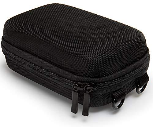 Baxxtar Pure Black L Kameratasche schwarz (Gurt- und Gürtelschlaufe) für CoolPix W100 W150 - CyberShot DSC HX60 HX90 HX95 HX99 - Lumix TZ81 TZ71 - PowerShot SX730 SX740