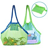 TopTops Mesh Beach Tote Bag, Kids Sea Shell Bags,2 Pack Large Beach Toy Bag Away from Sand,Bag Toys...