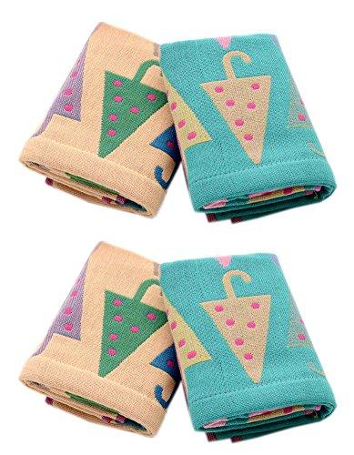 6 paquets Funny Parapluie visage Serviettes bébé Vêtements