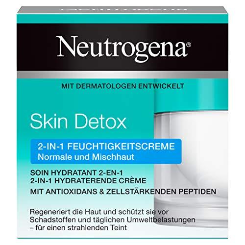 Neutrogena Skin Detox 2-in-1 Feuchtigkeitscreme – regenerierende und schützende Feuchtigkeitscreme mit Antioxidans für das Gesicht – 1 x 50ml