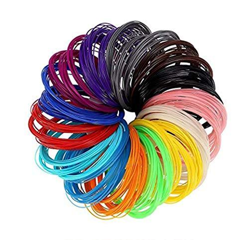 Oyfel. Stylos 3D Filaments Recharges ABS Couleurs Brillent Diamètre 1.75mm 10 Mètres(32.8ft) Chaque Roll Stylo 3D Filament Recharge PLA Couleurs Chaque Couleur 1.75mm