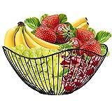 Cesta de Frutas, Cesta Frutas Metal, Frutero de Metal Cesta, Frutero de Metal para El Pan, Cesta de Frutas Decorativa Geométrica, para Frutas, Verduras, Pan, Aperitivos, Popurrí