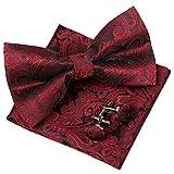 Alizeal Men's Bow Tie & Cummerbund Sets