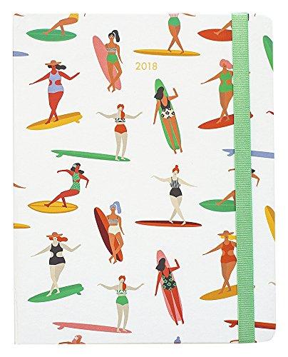 Grupo Erik Editores- Schülerkalender 2017/2018 Premium Surf Girl,Wochenansicht