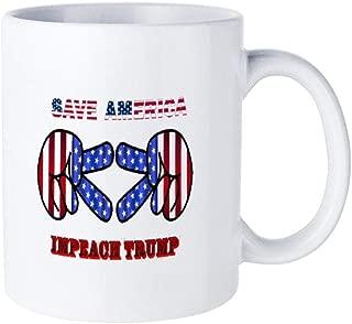 Save America Impeach Donald Trump Ceramic mug coffee mug design is simple, suitable for home gifts