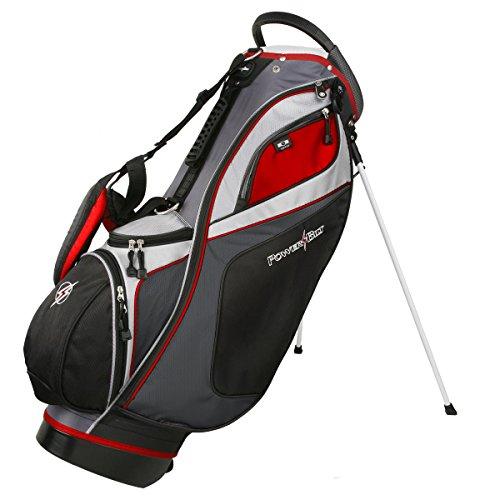 Powerbilt TPS Dunes 14-Way Black/Charcoal Stand Golf Bag (Black/Charcoal)