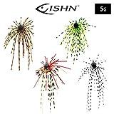FISHN Dirty Hairy Jig - Silikonfransen, fängige Fransen – Weedguard, Rubber Jigs, Tungsten,...
